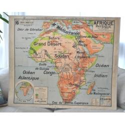 CARTE SCOLAIRE AFRIQUE PHYSIQUE VIDAL LABLACHE
