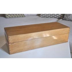 BOÎTE TIROIR à FICHES en bois