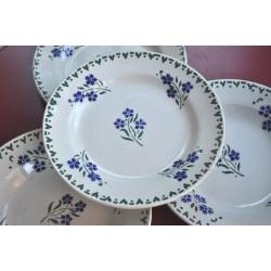 ASSIETTES BLEUETS porcelaine de GIEN