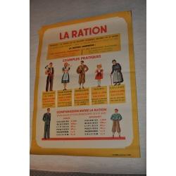 """AFFICHE PEDAGOGIQUE """"LA RATION - Exemples pratiques"""""""