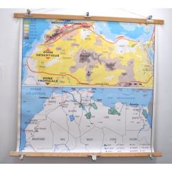 CARTE SCOLAIRE SAHARA - AFRIQUE OCCIDENTALE