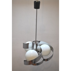 "SUSPENSION LAMPES BOULES ""SEVENTIES"""