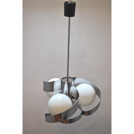 "PLAFONNIER LAMPES BOULES ""SEVENTIES"""