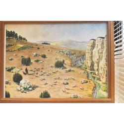 """AFFICHE SCOLAIRE """"Plateau calcaire - Terrain granitique"""""""