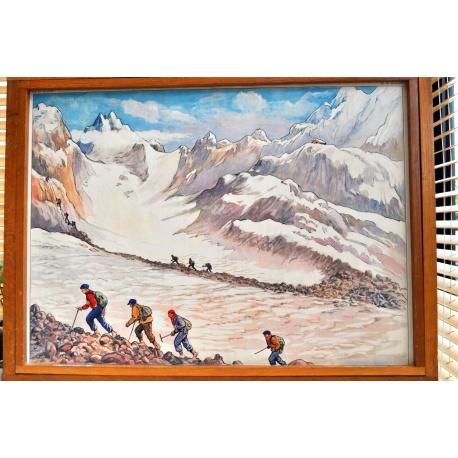 """AFFICHE SCOLAIRE """"Le glacier - La montagne"""""""