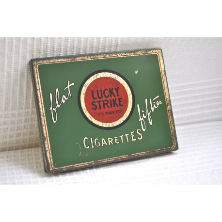"""BOÎTE à CIGARETTES LUCKY STRIKE """"IT'S TOASTED"""""""