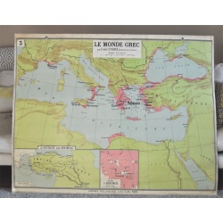 """CARTE SCOLAIRE DELAGRAVE """"Empire d'Alexandre-Monde Grec"""""""