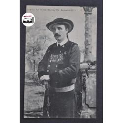 "CARTE POSTALE ANCIENNE ""Le Barde Breton Th. Botrel"" 1907"