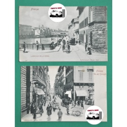 CARTES POSTALES ANCIENNES - FIRENZE (FLORENCE) ITALIE 1900