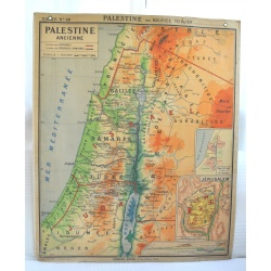 CARTE SCOLAIRE PALESTINE - EGYPTE ANCIENNE
