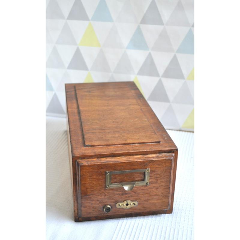 tiroir casier de rangement bois vintage twist 39 n broc. Black Bedroom Furniture Sets. Home Design Ideas